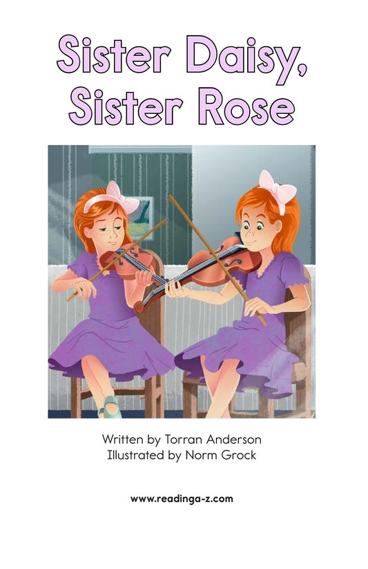 Book Preview For Sister Daisy, Sister Rose Page 2