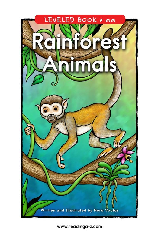 Book Preview For Rainforest Animals Page 0