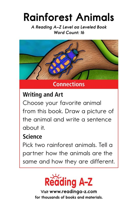 Book Preview For Rainforest Animals Page 11