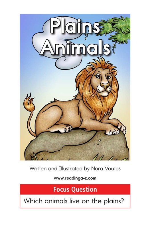 Book Preview For Plains Animals Page 1