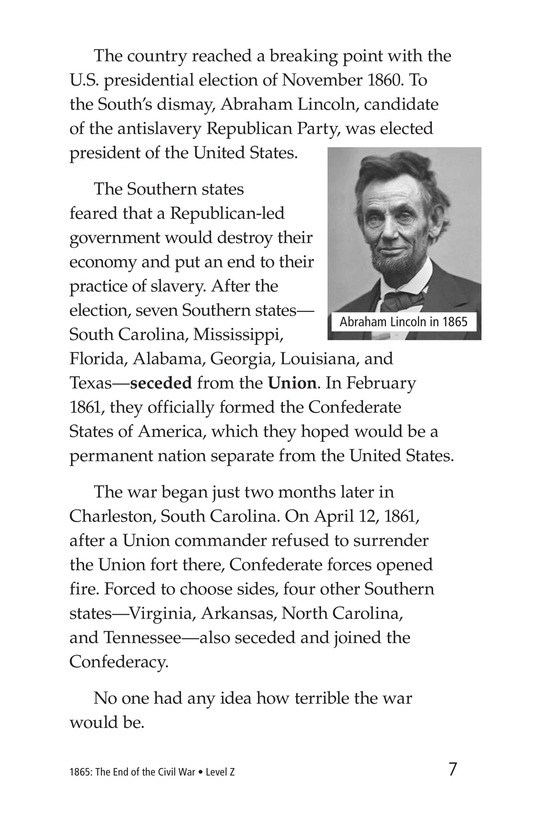 Book Preview For 1865: The End of the Civil War Page 7