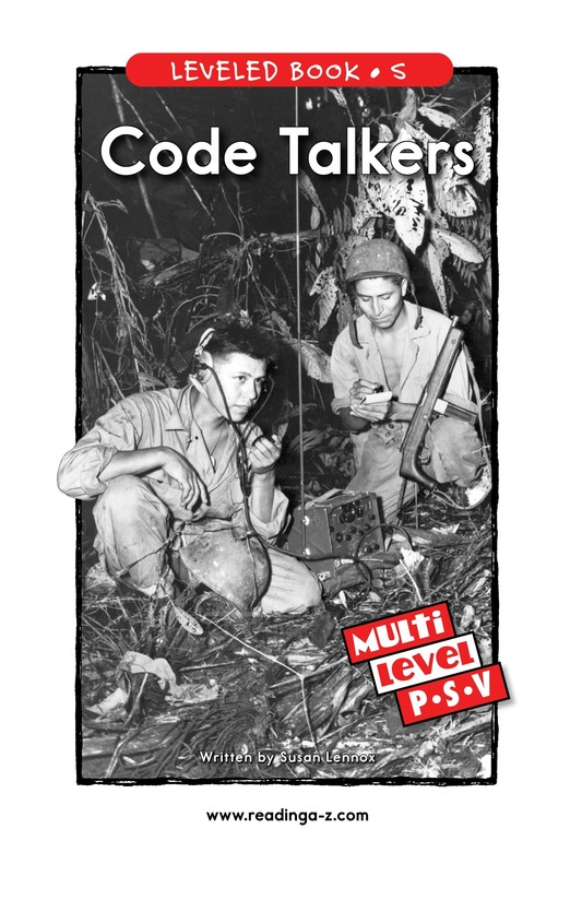 Book Preview For Code Talkers Page 1