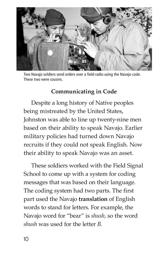 Book Preview For Code Talkers Page 10