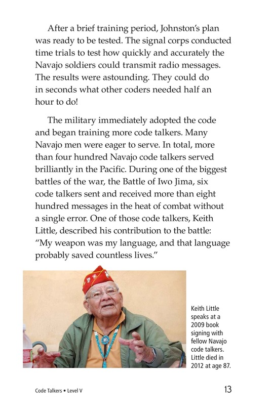 Book Preview For Code Talkers Page 13