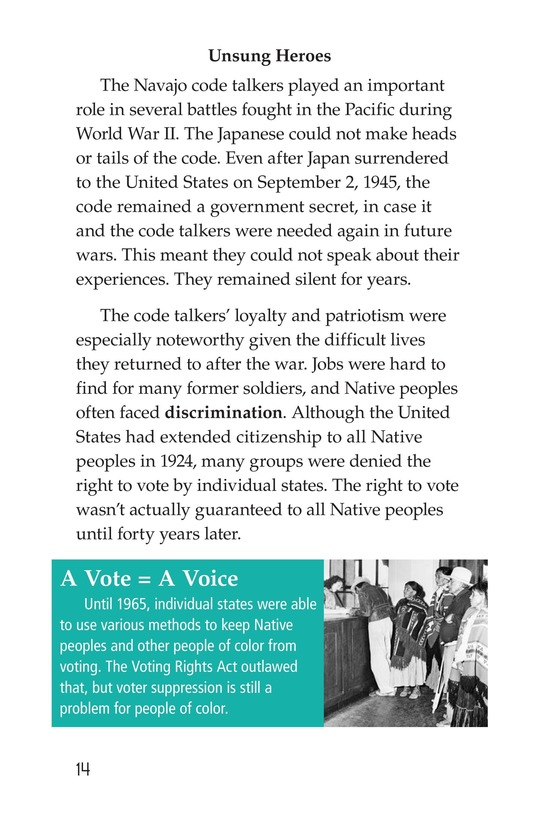 Book Preview For Code Talkers Page 14