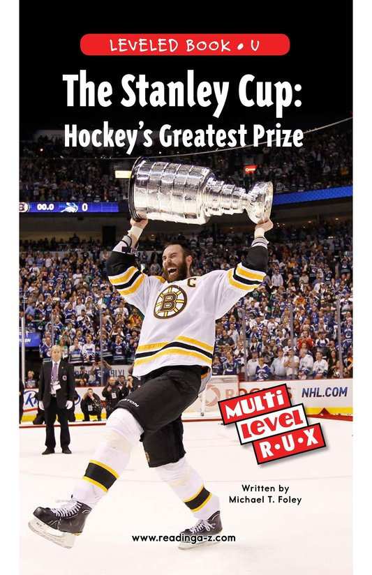 Book Preview For The Stanley Cup: Hockey's Greatest Prize Page 1