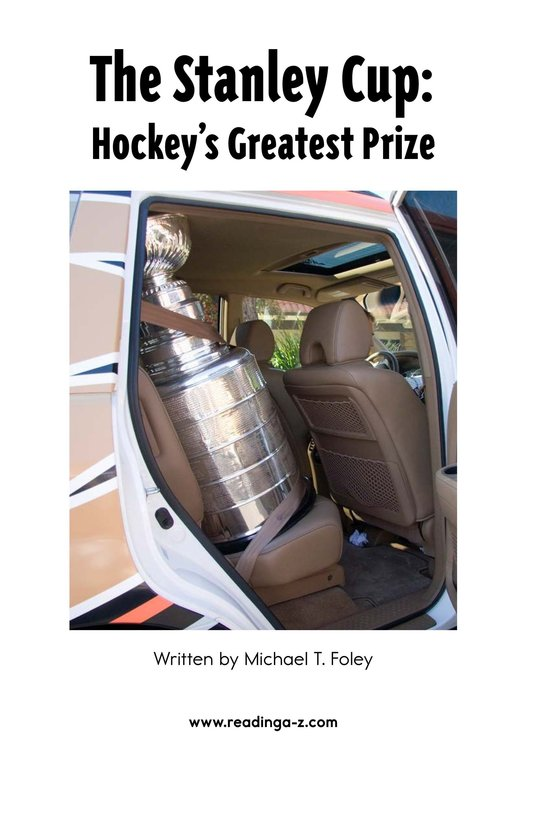 Book Preview For The Stanley Cup: Hockey's Greatest Prize Page 2