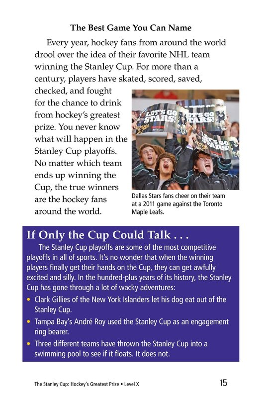 Book Preview For The Stanley Cup: Hockey's Greatest Prize Page 15