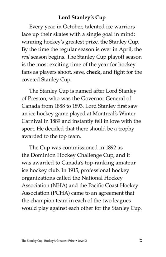Book Preview For The Stanley Cup: Hockey's Greatest Prize Page 5
