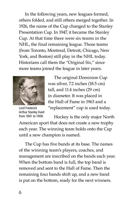 Book Preview For The Stanley Cup: Hockey's Greatest Prize Page 6