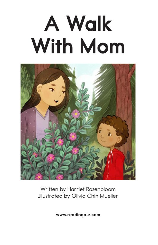 Book Preview For A Walk With Mom Page 2