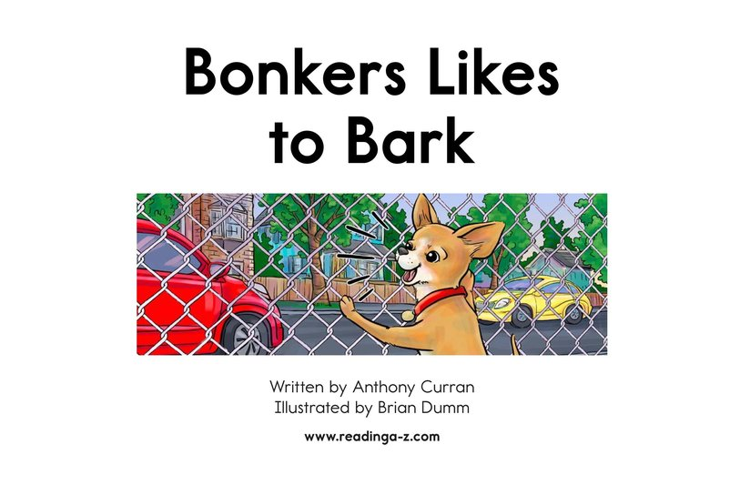 Book Preview For Bonkers Likes to Bark Page 2