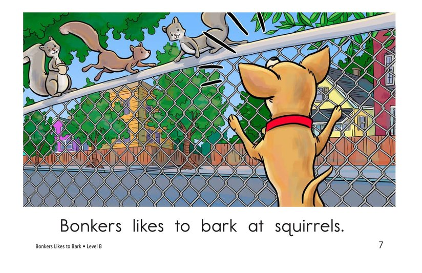 Book Preview For Bonkers Likes to Bark Page 7