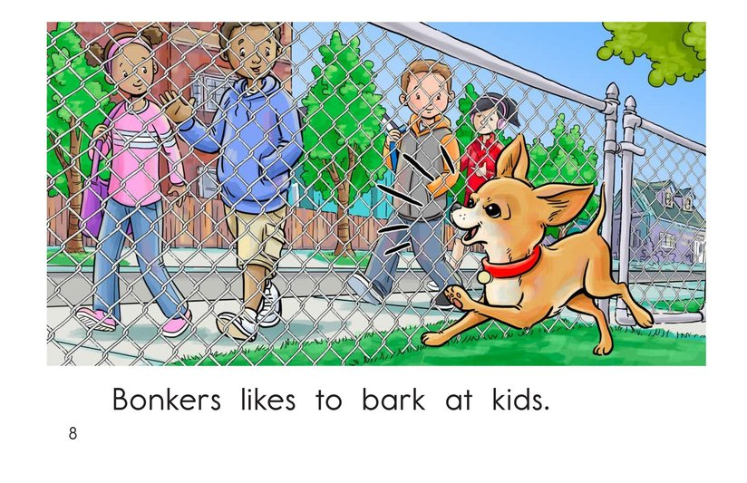 Book Preview For Bonkers Likes to Bark Page 8