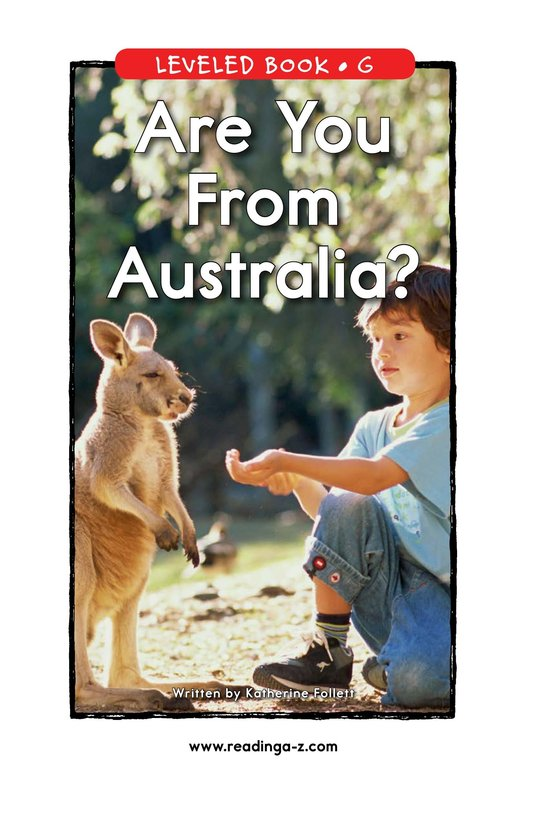 Book Preview For Are You From Australia? Page 1