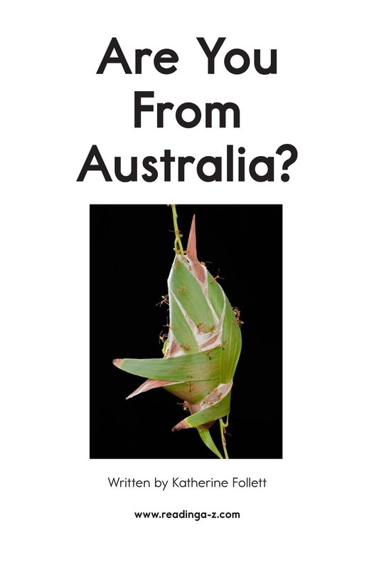 Book Preview For Are You From Australia? Page 2