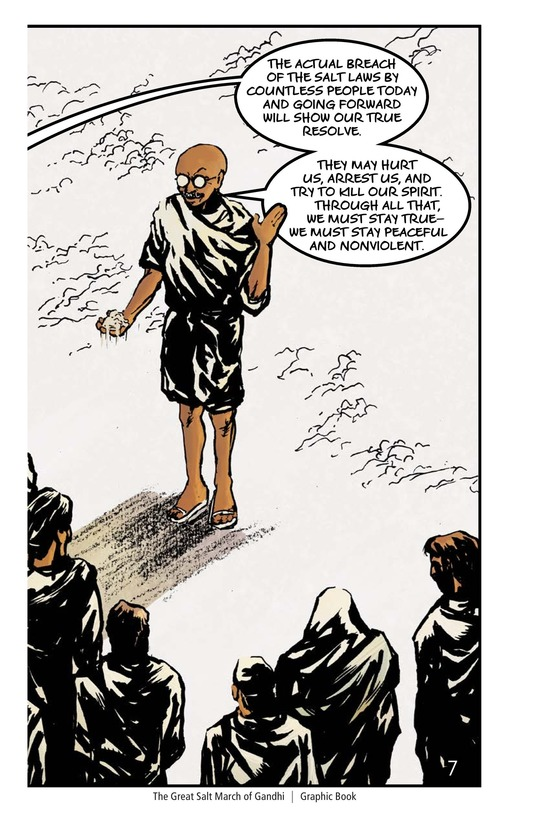 Book Preview For The Great Salt March of Gandhi Page 8