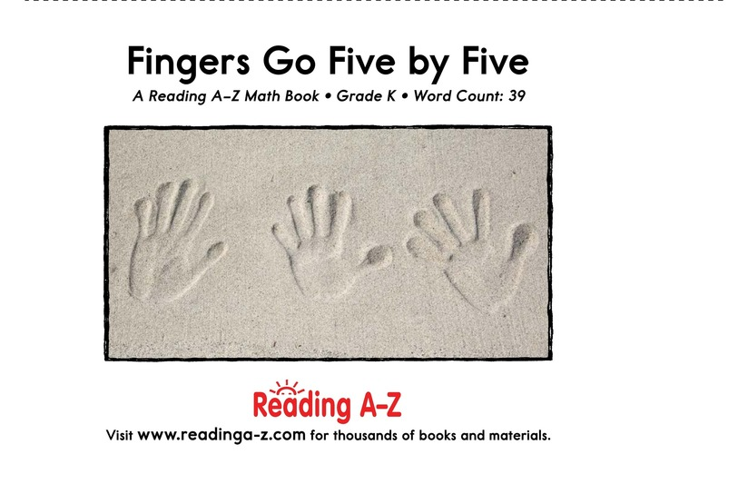 Book Preview For Fingers Go Five by Five Page 2