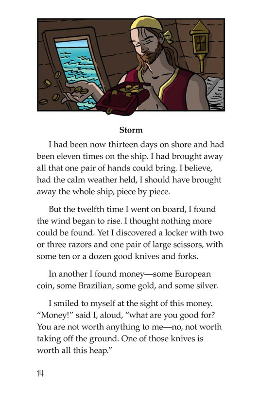 Book Preview For A Selection From Robinson Crusoe Page 14