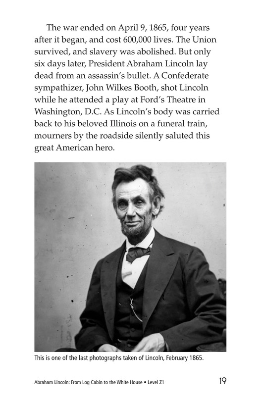 Book Preview For Abraham Lincoln: From Log Cabin to the White House Page 19