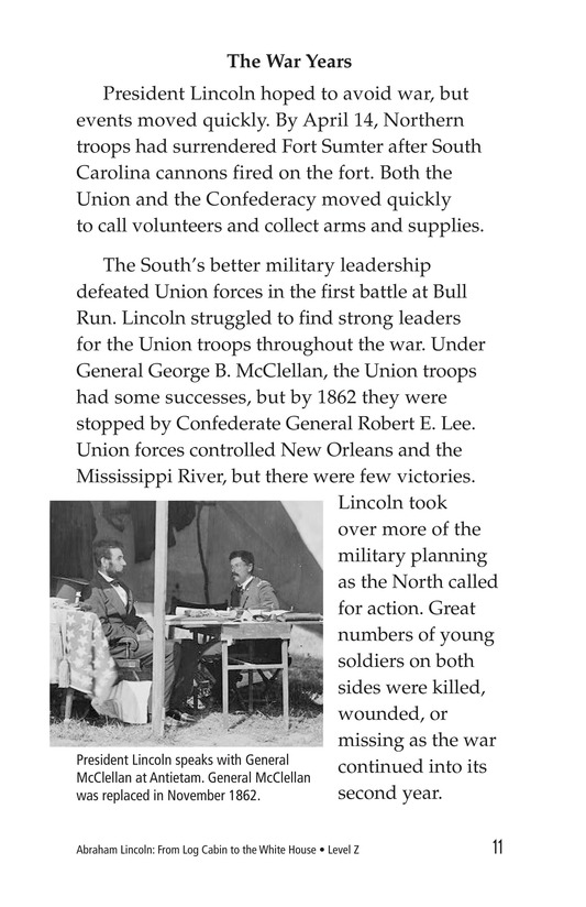 Book Preview For Abraham Lincoln: From Log Cabin to the White House Page 11