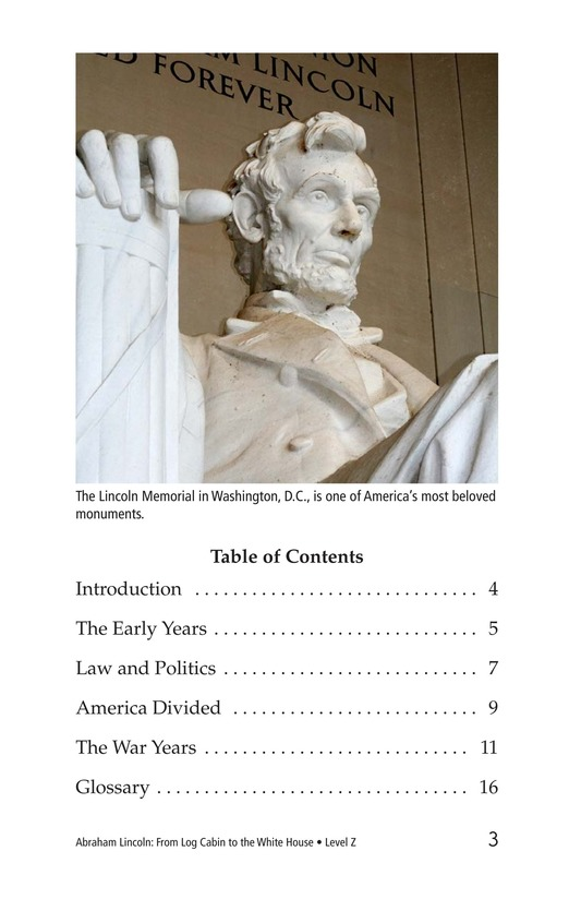 Book Preview For Abraham Lincoln: From Log Cabin to the White House Page 3