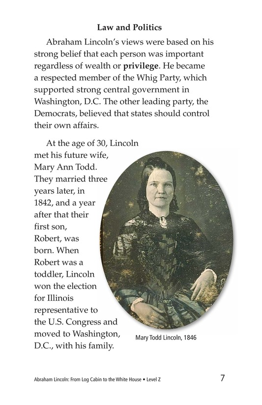 Book Preview For Abraham Lincoln: From Log Cabin to the White House Page 7