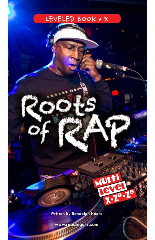Book Preview For Roots of Rap Page 0