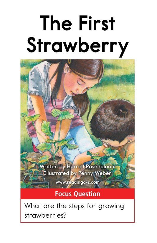 Book Preview For The First Strawberry Page 1