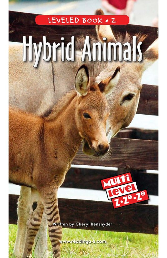 Book Preview For Hybrid Animals Page 0