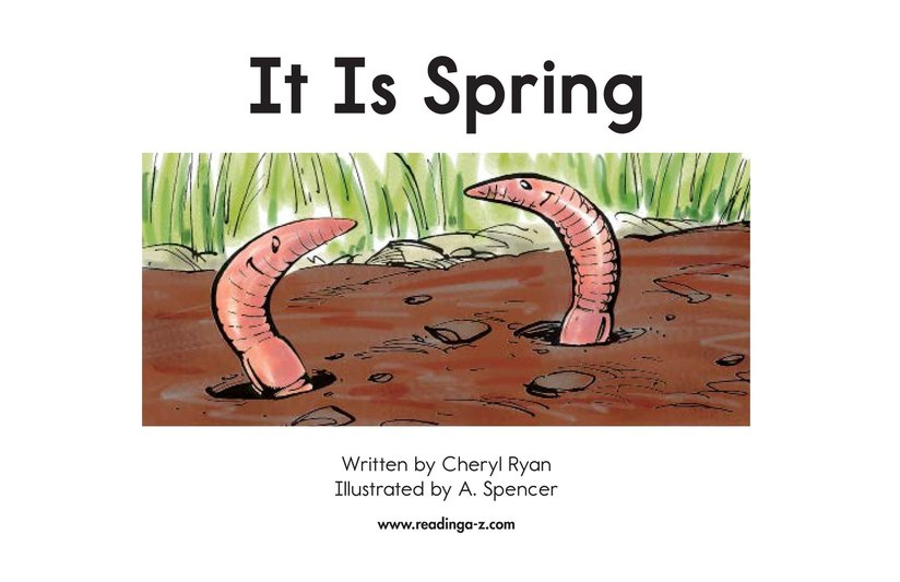 Book Preview For It Is Spring Page 2