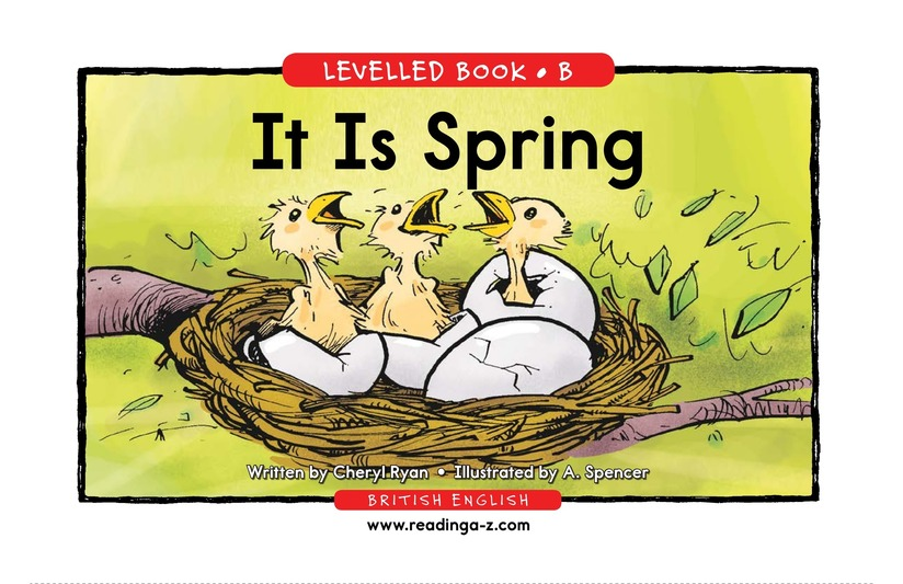 Book Preview For It Is Spring Page 1