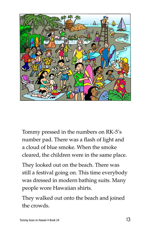 Book Preview For Tommy Goes To Hawaii Page 13