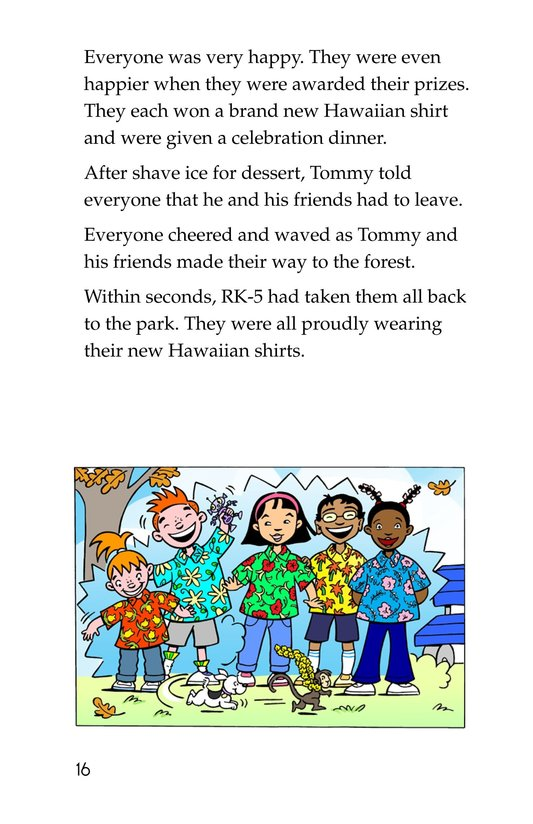 Book Preview For Tommy Goes To Hawaii Page 16
