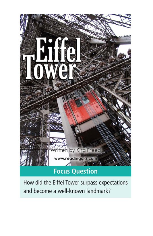 Book Preview For Eiffel Tower Page 1