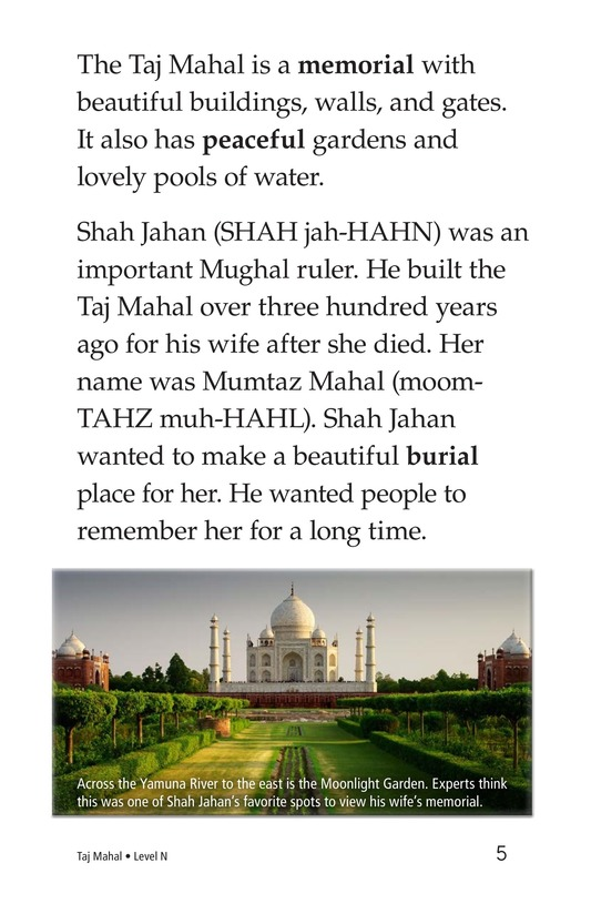 Book Preview For Taj Mahal Page 5