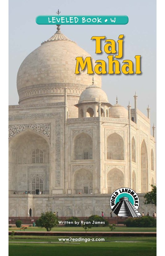Book Preview For Taj Mahal Page 0