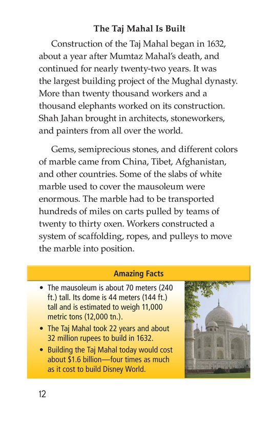 Book Preview For Taj Mahal Page 12