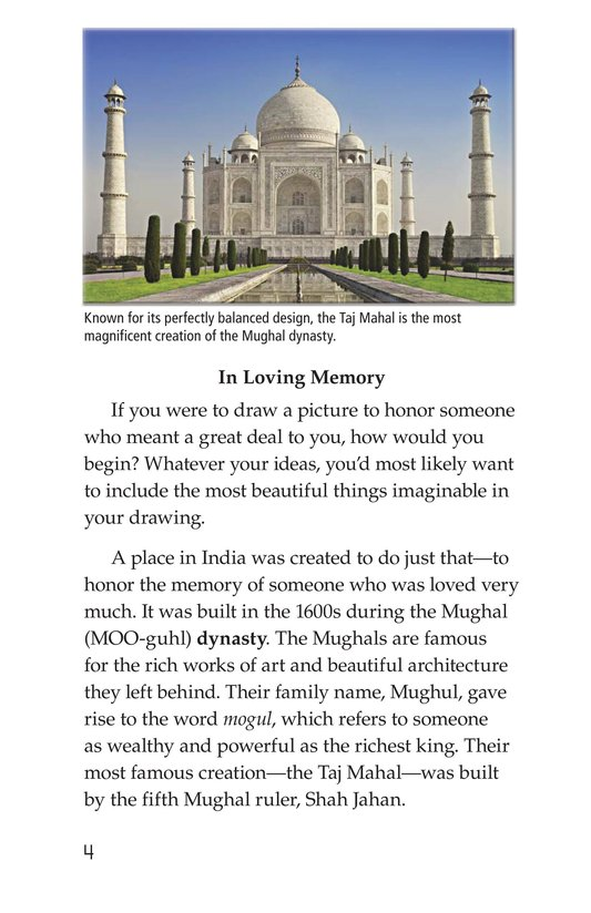 Book Preview For Taj Mahal Page 4