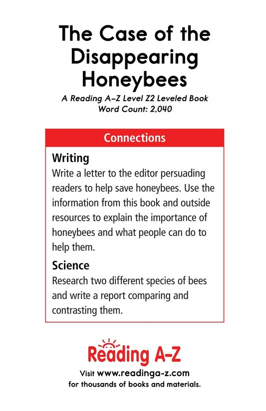 Book Preview For The Case of the Disappearing Honeybees Page 21