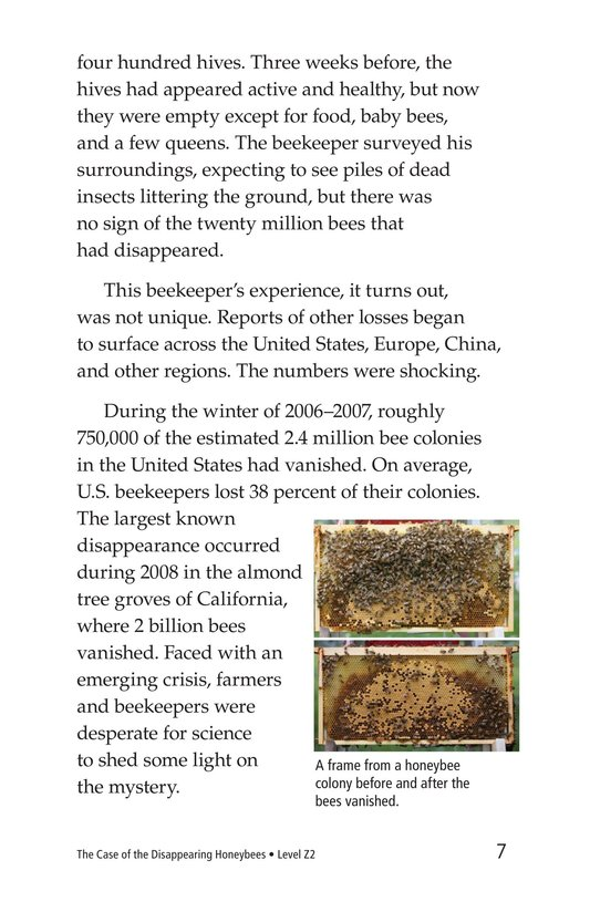 Book Preview For The Case of the Disappearing Honeybees Page 7