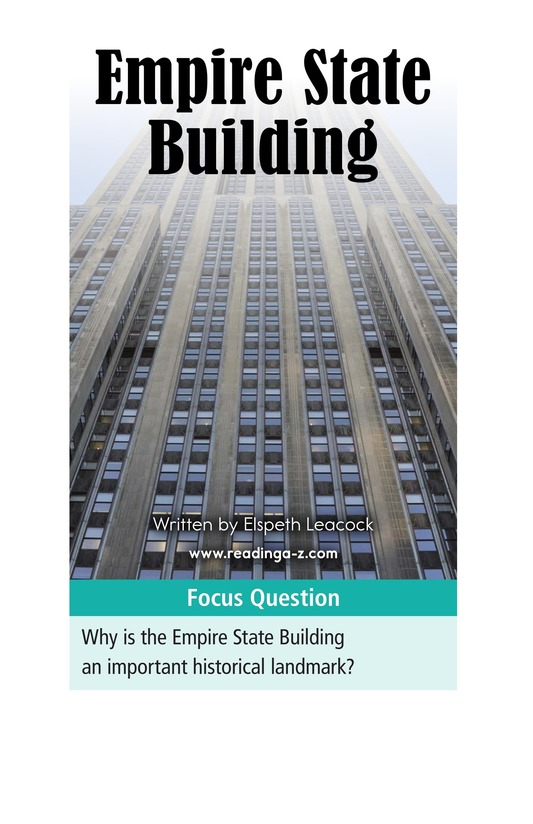 Book Preview For Empire State Building Page 1