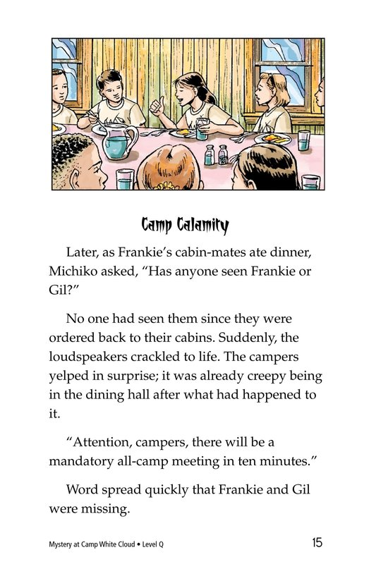 Book Preview For Mystery at Camp White Cloud Page 15