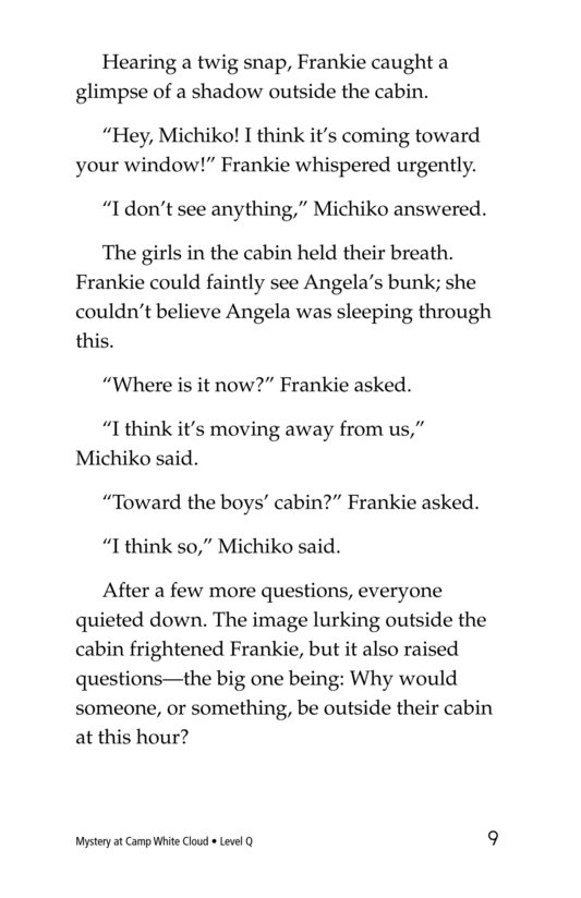Book Preview For Mystery at Camp White Cloud Page 9