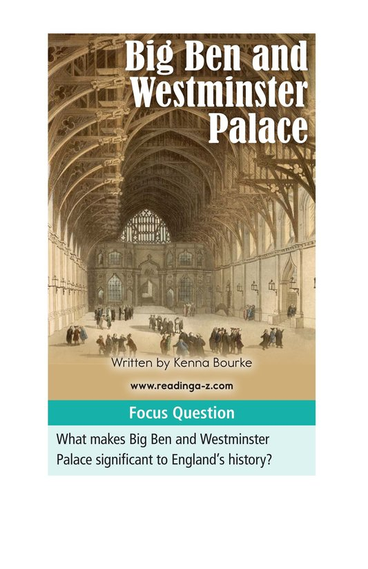 Book Preview For Big Ben and Westminster Palace Page 1