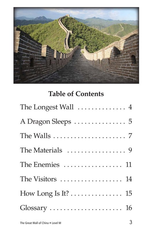 Book Preview For The Great Wall of China Page 3