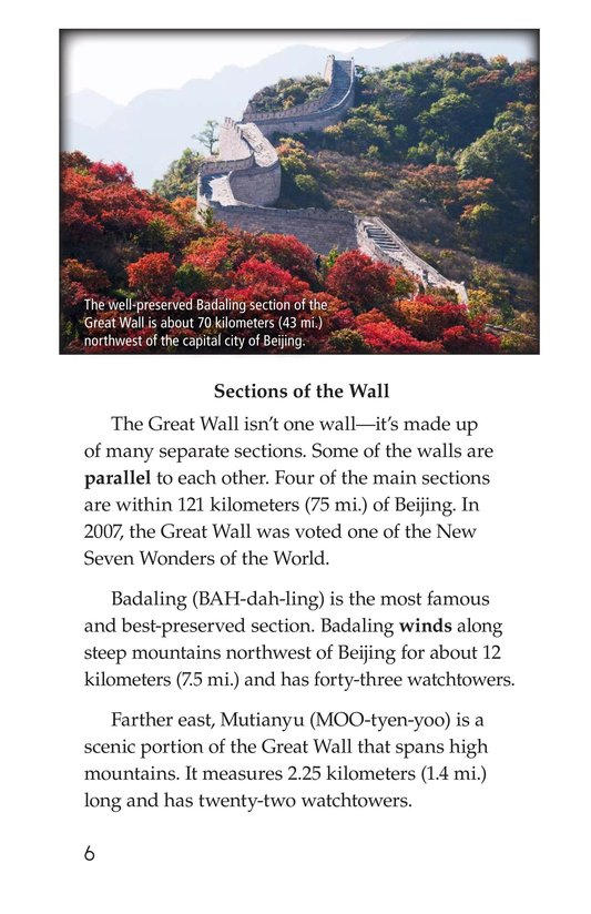 Book Preview For The Great Wall of China Page 6