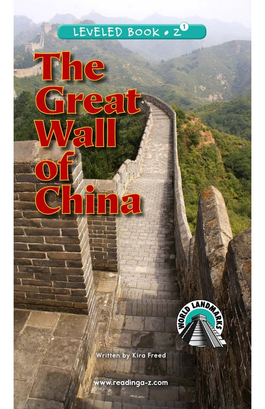Book Preview For The Great Wall of China Page 0