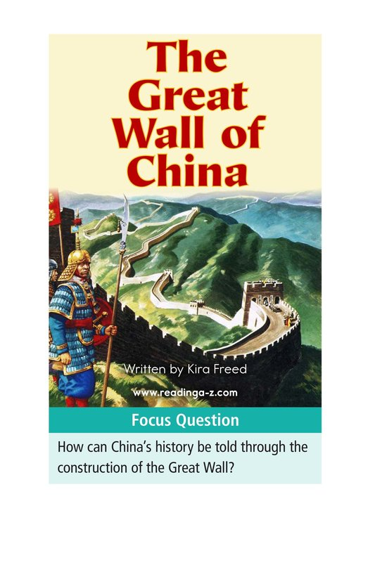 Book Preview For The Great Wall of China Page 1