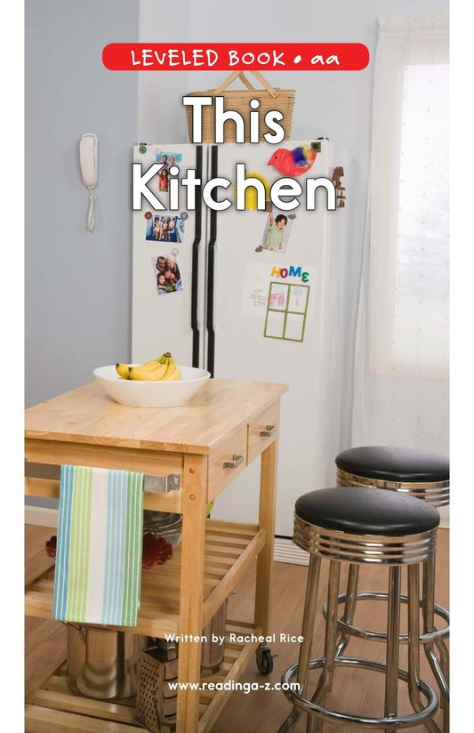 Book Preview For This Kitchen Page 0